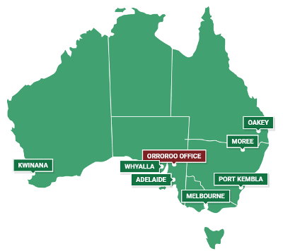 Our Warehouse Locations, Soil Management Systems