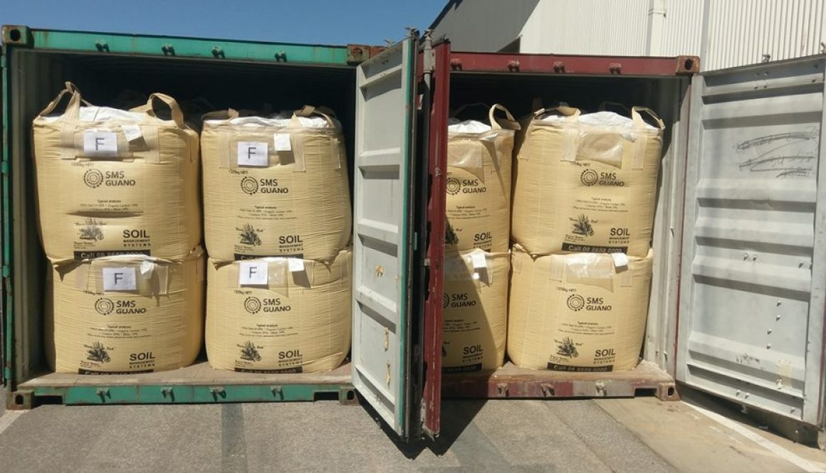 Guano Fertiliser arriving into Adelaide