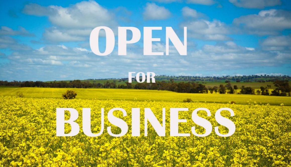Soil Managment Sytems Open for Business